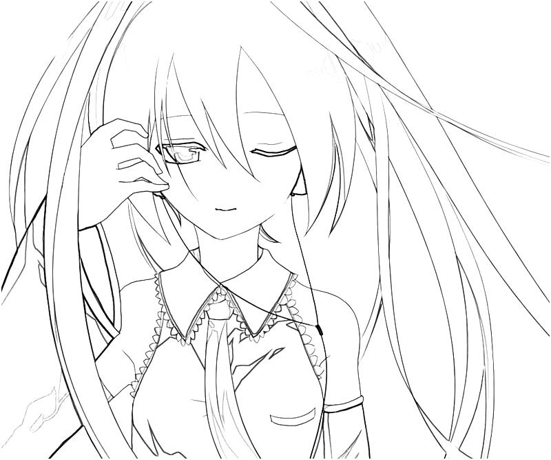 hatsune miku coloring pages - photo #2
