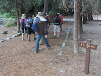 Beginning hike from Mt. Baldy Visitor Center