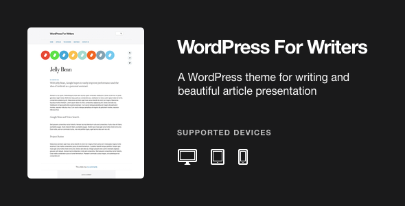 WordPress For Writers Theme