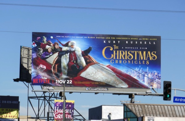 Christmas Chronicles Santa sleigh billboard