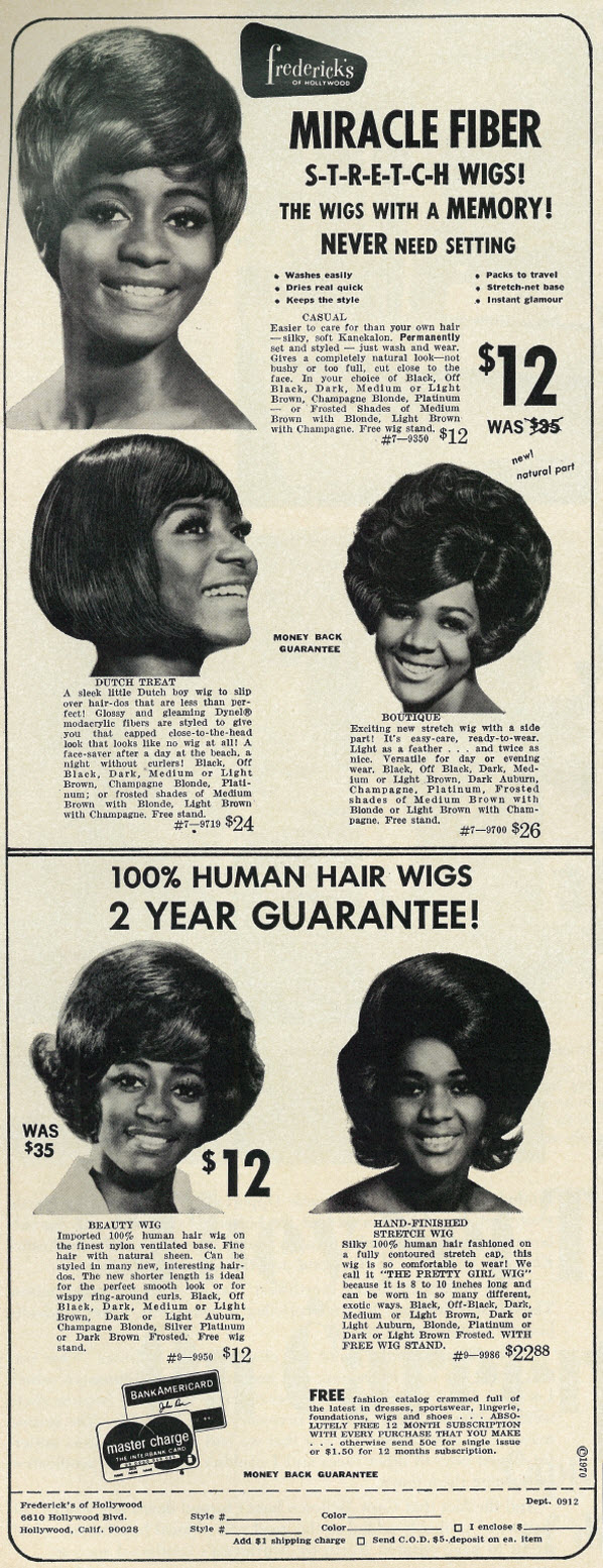 19 Vintage Ads For Fashion Wigs And Hairpieces From The