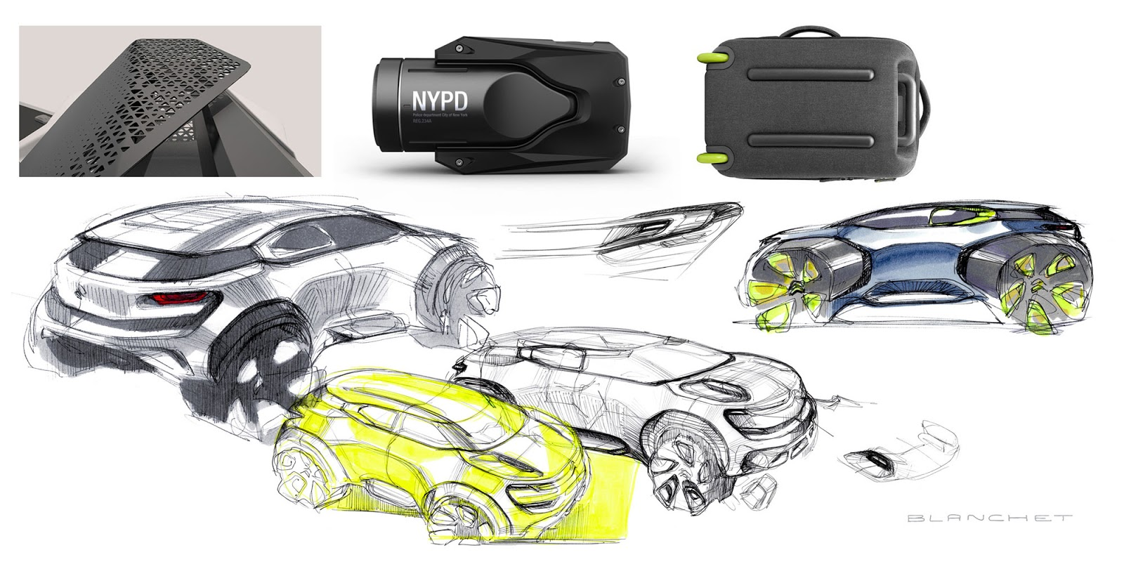 Citroen Aircross concept 2015 mood board and sketches by Gregory Blanchet