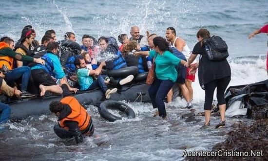 Refugiados musulmanes en el Mar Egeo