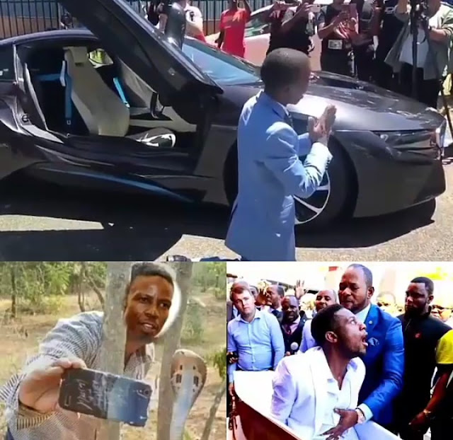 Pastor Mboro Who Claimed to have gone to Heaven, Took Selfie With God Call Storms the Church of Pastor Alph Lukau, Calls Him  Fake Pastor Over  Resurrection Drama