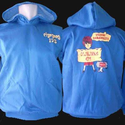 Hoodie / Sweater Kupluk Cijujung 1 Bogor Biru Turkis