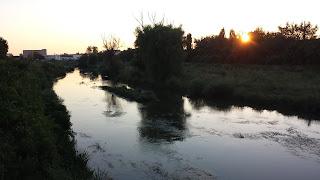 Sunset, Yambol, River Tundzha,