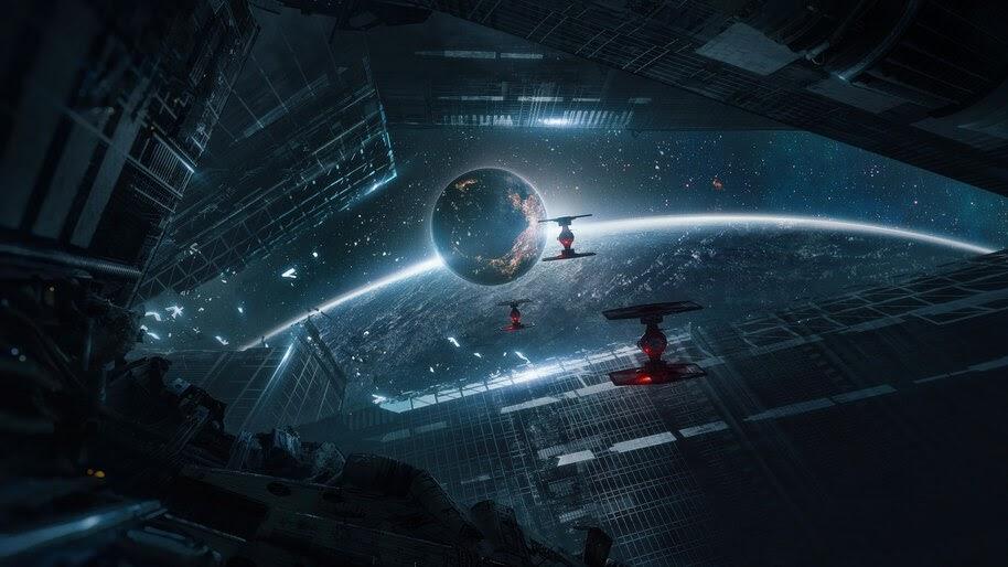 Star Wars, TIE Fighter, Sci-Fi, Fantasy, Space, Planet, 4K, #4.989