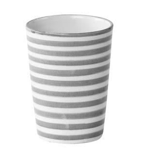 tinek Becher Mug grau Stripe