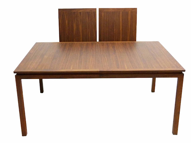 Edward J Wormley Modern Walnut Dining table by Dunbar Leaves