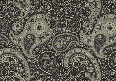 Charcoal Paisley Photoshop Pattern