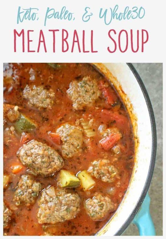 Keto Meatball Soup