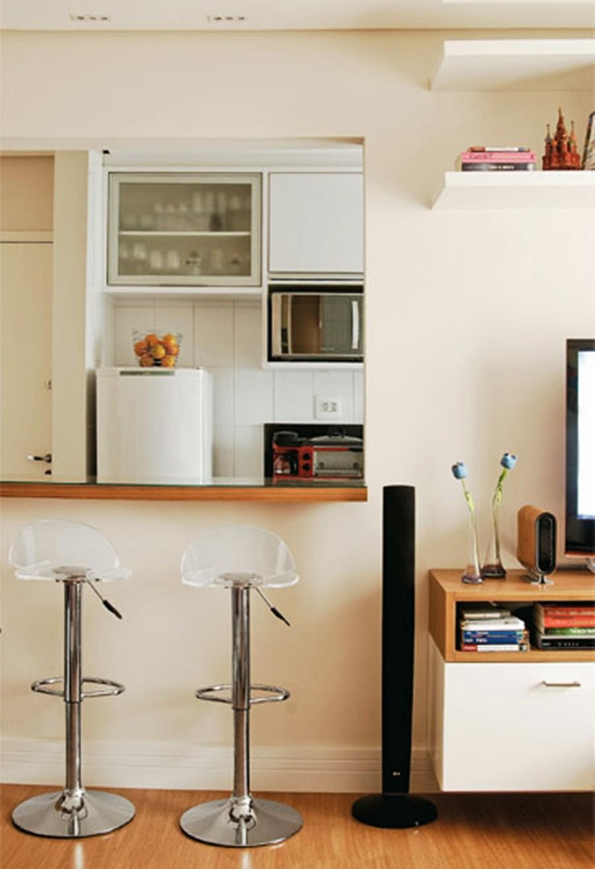 Cozinha Decorada Apartamento Pequeno Abrir Imagem Apartamento