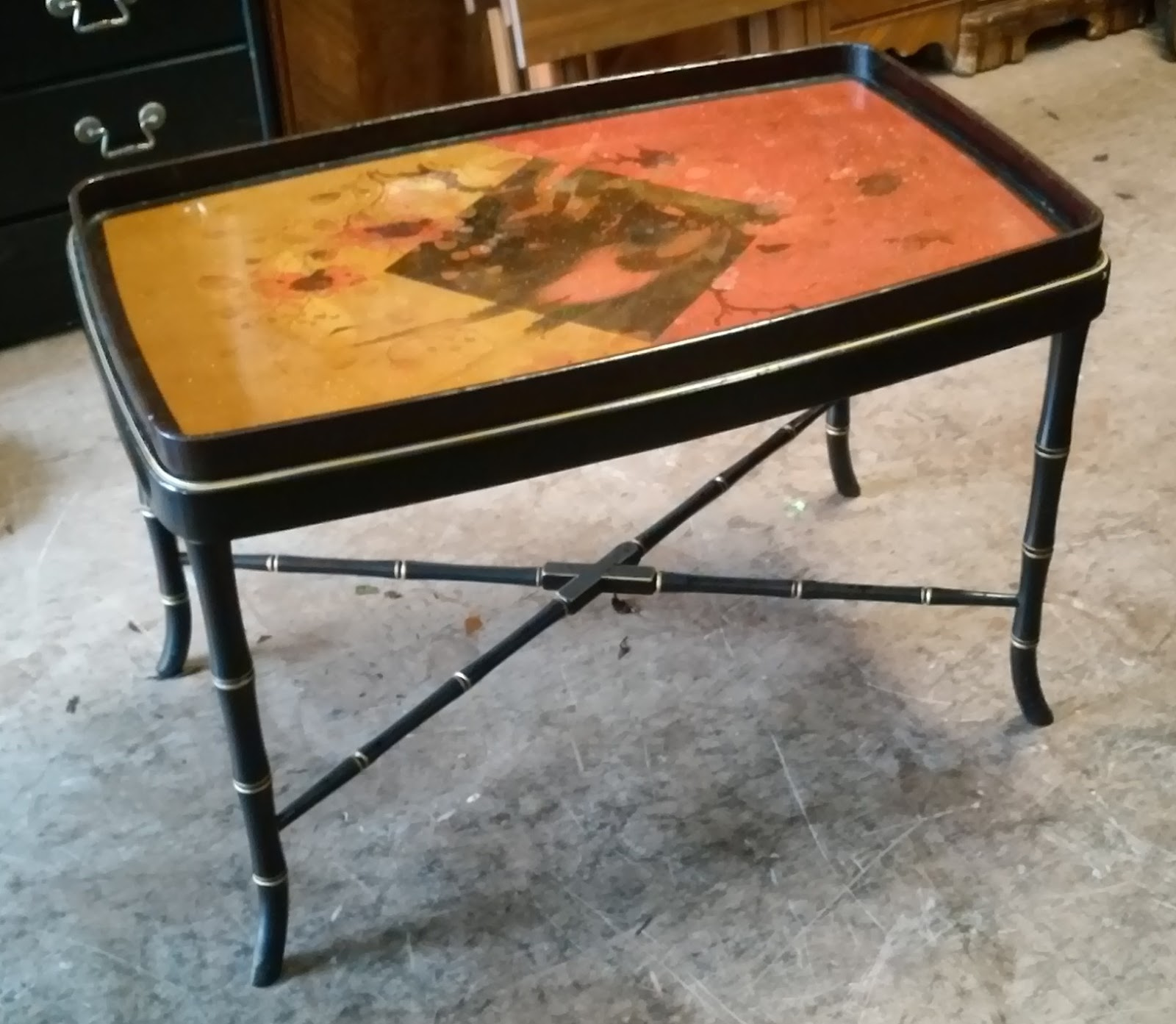 Uhuru Furniture Collectibles Sold Asian Serving Tray Coffee Table 75