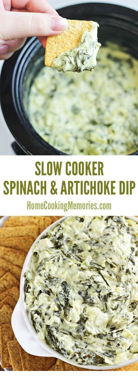 Slow Cooker Spinach and Artichoke Dip Recipe