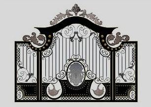 pintu gerbang besi tempa