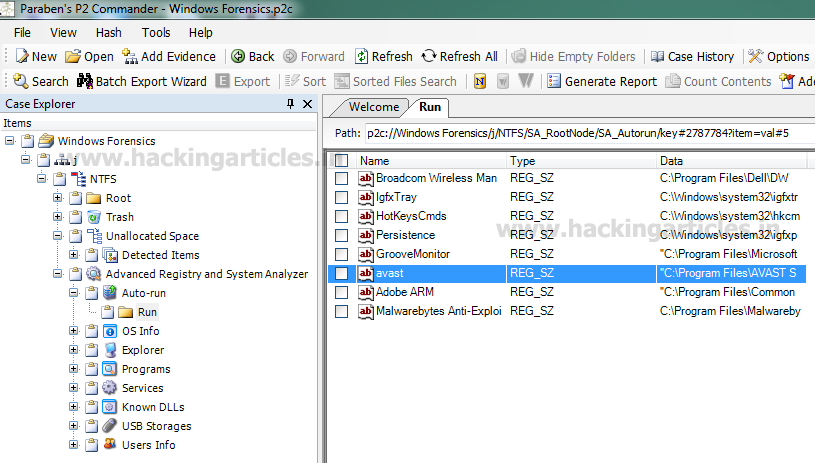How to study Forensics Evidence of PC using P2 Commander
