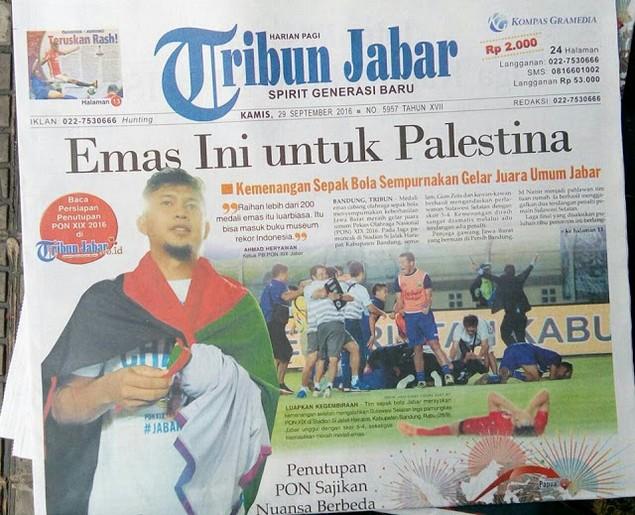 Kiper Persib Jadi Pahlawan Tim PON Jabar, Deden: Emas Ini untuk Palestina