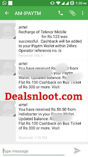 indiebarter Paytm cash redeem proof