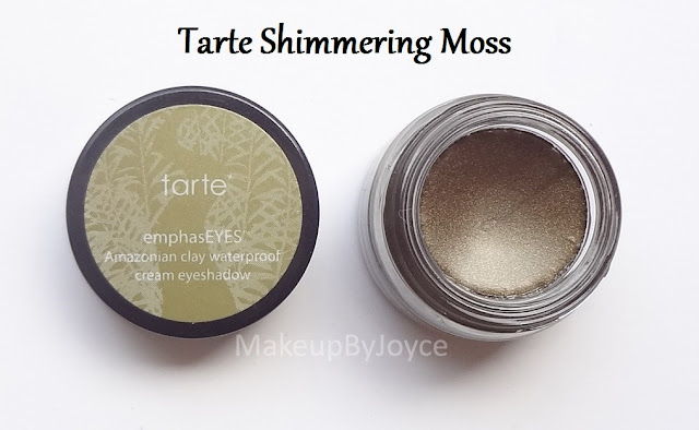Tarte Shimmering Moss Cream Eyeshadow Swatch