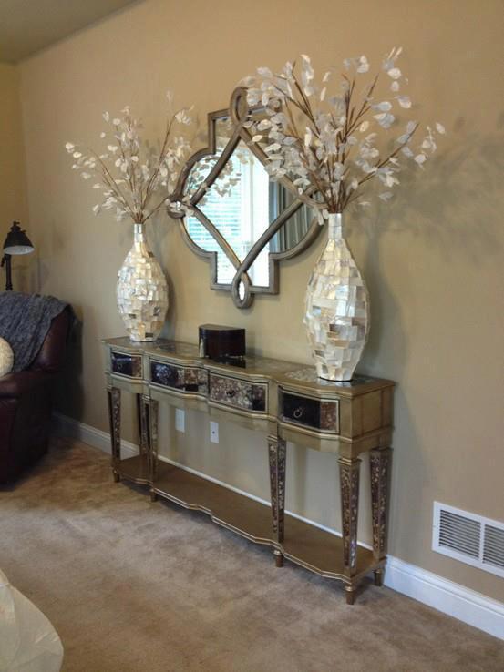 Home Sense Foyer : Construindo minha casa clean aparadores modernos e