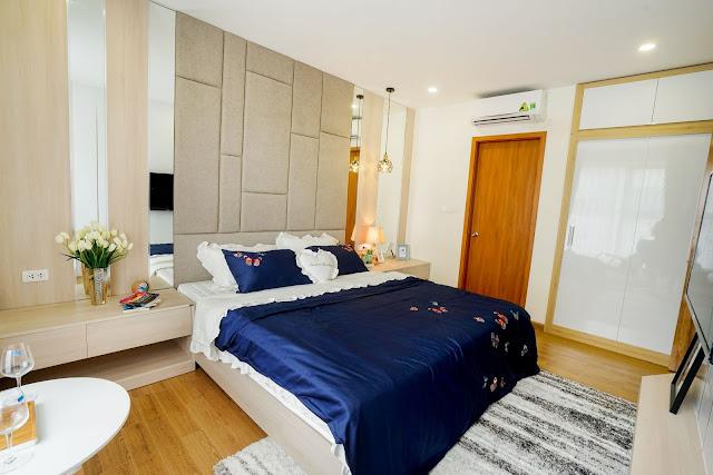 Phòng ngủ lớn rộng hơn 15m2 của căn 3 ngủ