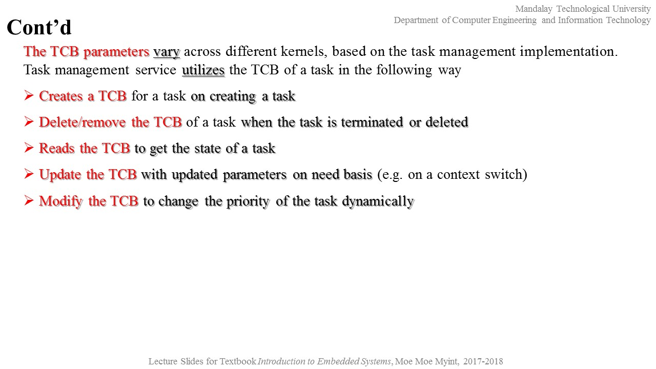 ti rtos contains the following components Array - dr moe moe myint embedded  system ii 2nd portion chapter 10 real rh drmoemoemyint