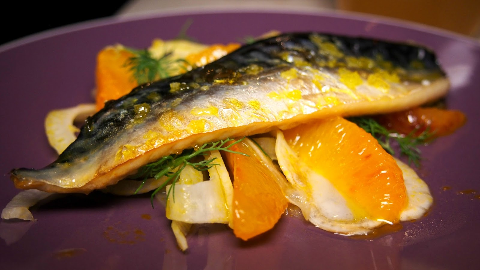 Mackerel with orange