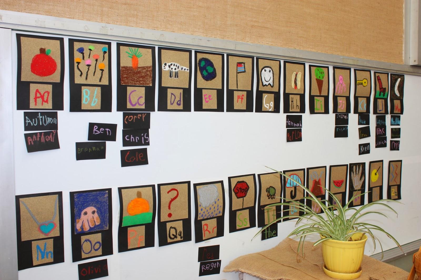 Mrs Atkin S Kindergarten Alphabet Word Wall Colors