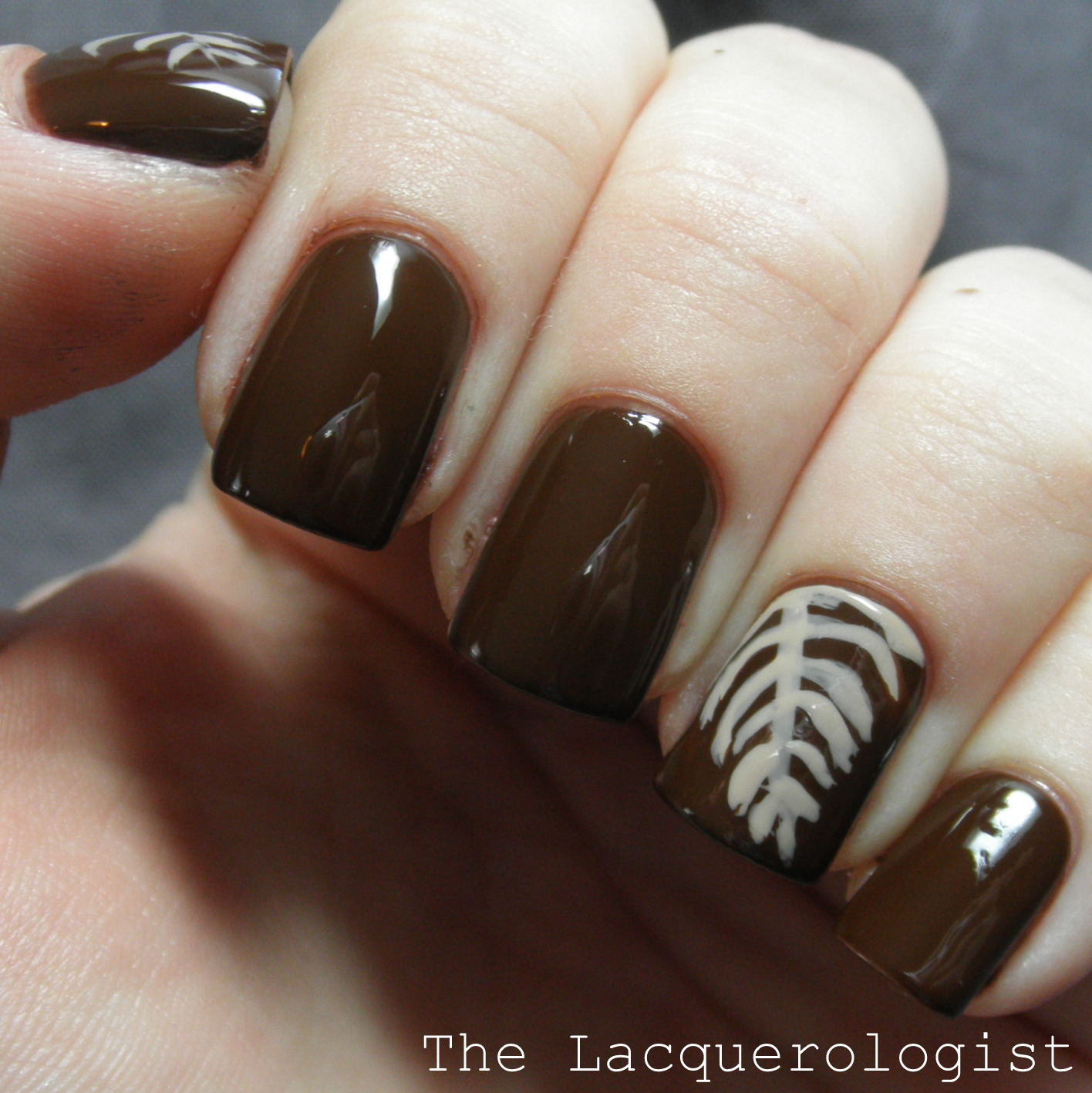 Coffee Art Nails Latte Art Nail Art Casual Contrast