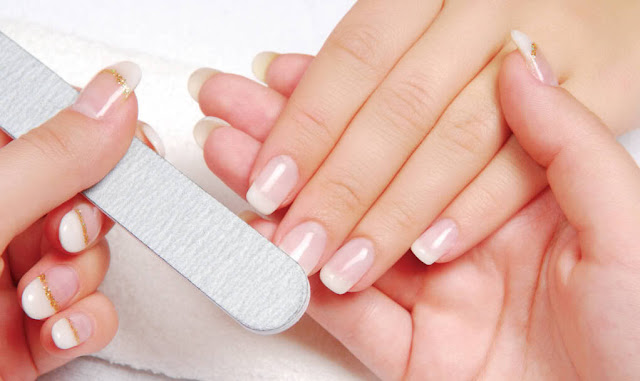 Chop and trim your nails with the help of a nail cutter and a nail filer