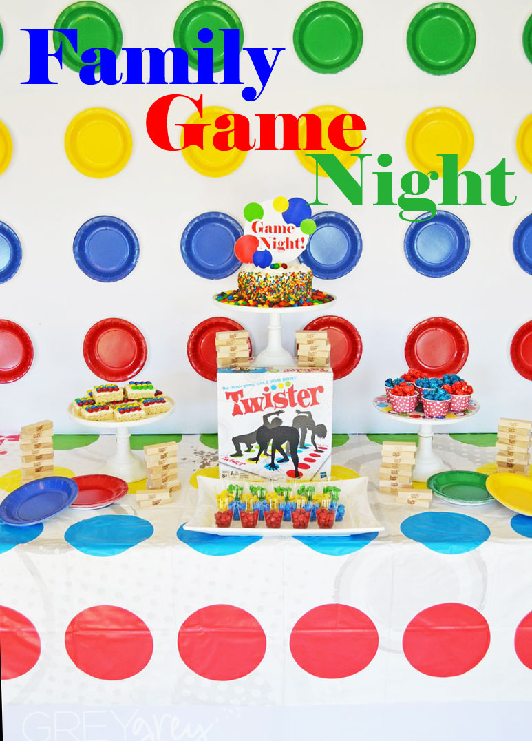 GreyGrey Designs My Parties Family Game Night Party With Hasbro