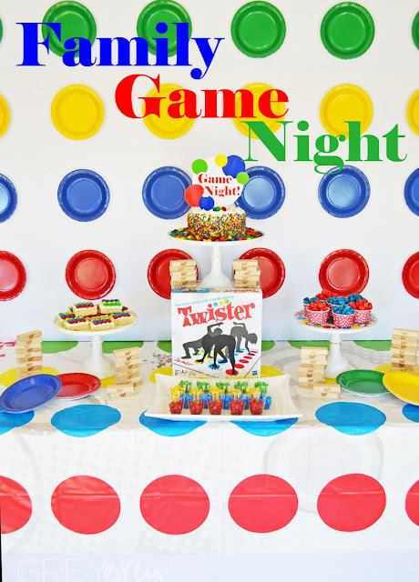 #ad #sponsored #greygreydesigns #hasbro #gamenight #mms #partyideas