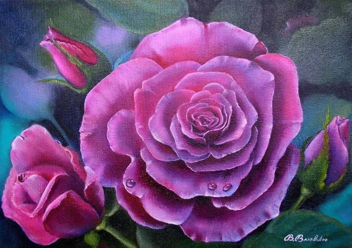 Акварельные рисунки цветов. Валентина Валевская 11