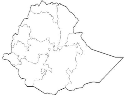 image: Ethiopia blank white Map