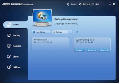 تحميل برنامج AOMEI Backupper Pro الجديد لعمل نسخة أحتياطية برابط مباشر