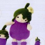 patron gratis muñeca berenjena amigurumi