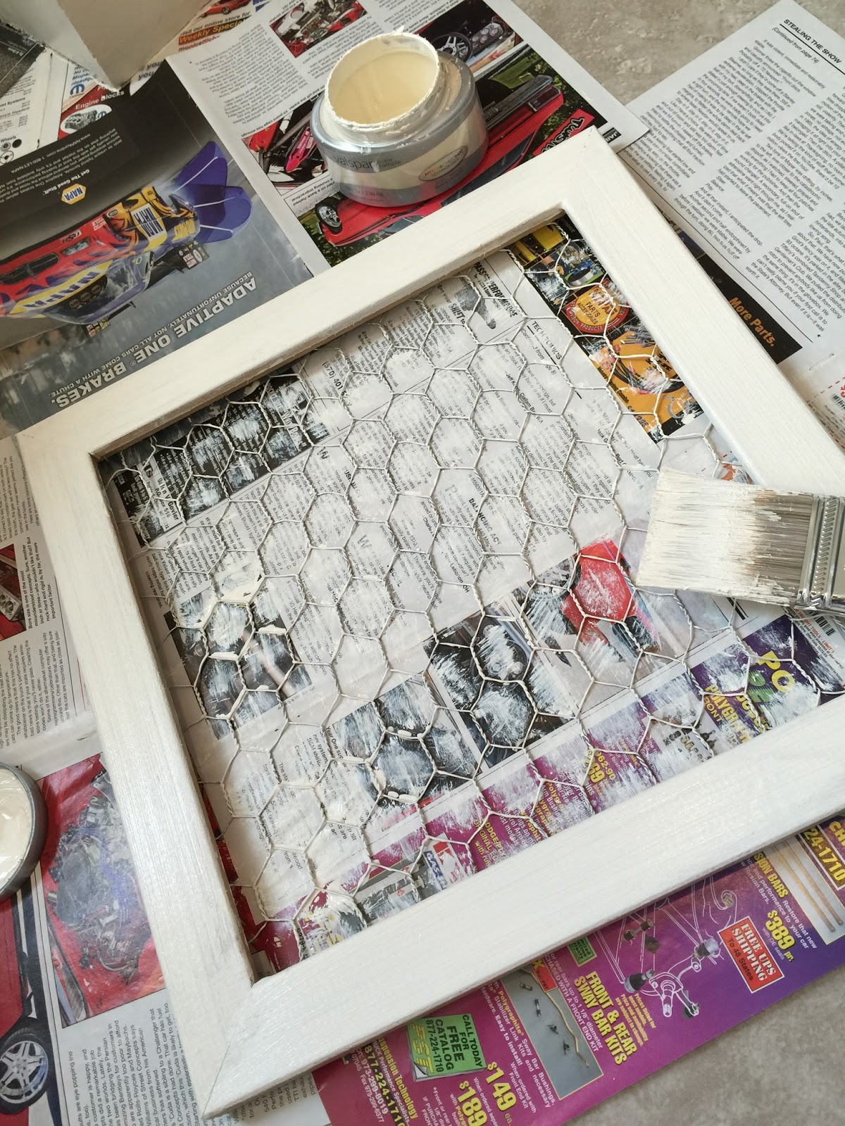 Designs by Latisha Yoast: MD Hobby & Craft Chicken Wire Frame tutorial