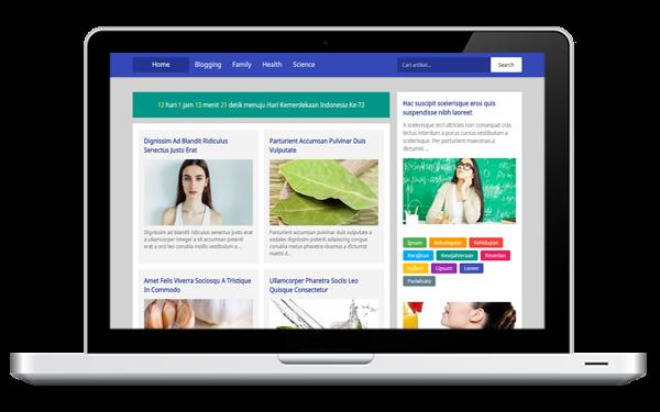Langit Biru - Free & Fully Customizable Blogger Template