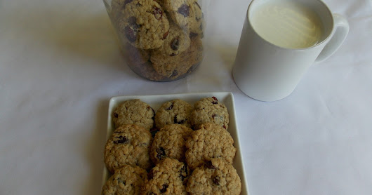 Eggless Oat Raisin Cookies