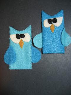Felt Owl Finger Puppets