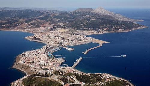 Vista aérea de Ceuta – Espanha