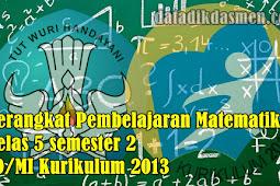 Perangkat Pembelajaran Matematika Kelas 5 semester 2 SD/MI Kurikulum 2013
