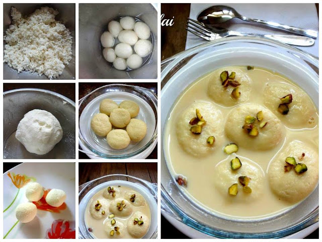 Home made Ras malai Diwali sweets home made with paneer, crumbled cottage cheese