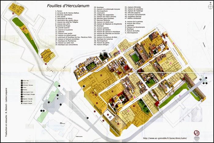 Plan d'Herculanum