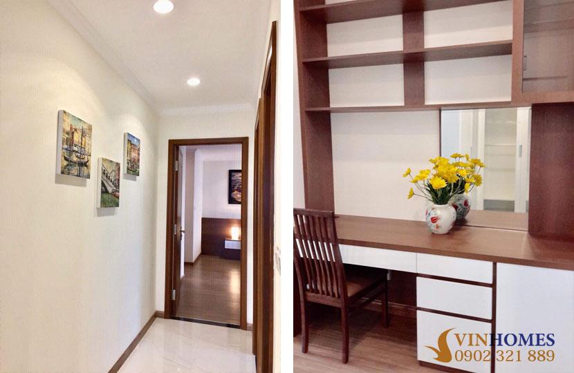 thuê căn hộ 4 phòng ngủ Landmark 1 tầng 15 nội thất đẹp | bàn học