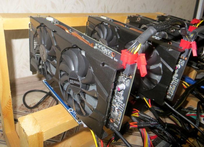 Видеокарта Inno3D GTX 1060 6Gb на ферме