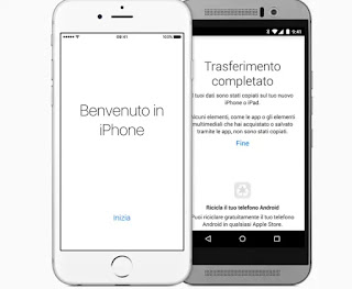 passare da android a iphone