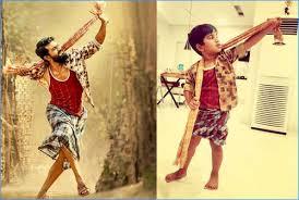 Ayaan Imitates Ram Charan's Role In Rangasthalam Movie