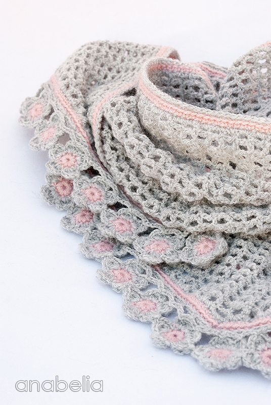 Anabelia Craft Design Helena Crochet Scarf With Flowers Edging Pattern
