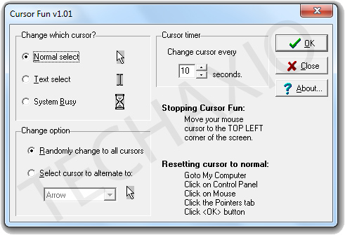 Cursor Fun Window